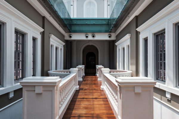 SINGAPORE - OCTOBER 17 2014: The National Museum of Singapore interior. It is the oldest museum in Singapore.